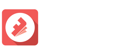 Flipbook animated GIF App logo white