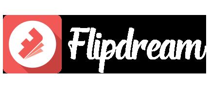 Flipbook animated GIF App logo white
